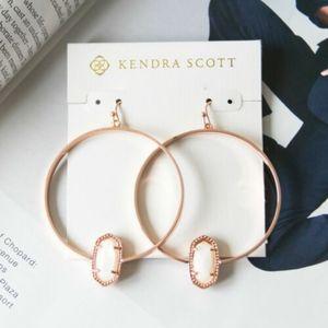 Nwot Kendra Scott Elora Rose Gold mother of pearl